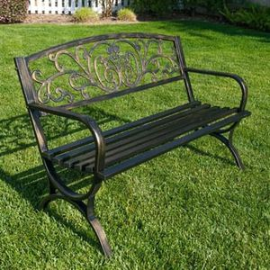 SHIPPING ONLY Metal Outdoor Patio Furniture Bench Porch Seat for Sale in Las Vegas, NV