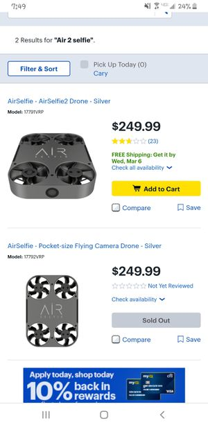 AirSelfie2 Drone for Sale in Fuquay Varina, NC