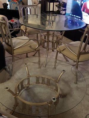 Glass Dining table with coffee table for Sale in UPR MARLBORO, MD