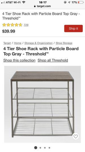 Threshold 4-tier shoe shelf for Sale in Houston, TX