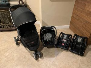 Britax B-Agile Travel System with Stroller, Infant car seat and two bases for Sale in Pompano Beach, FL