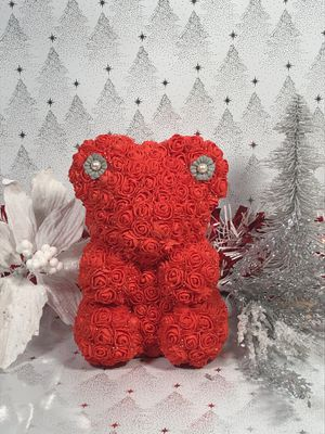Foam Christmas Rose Bear Handmade By Me for Sale in North Highlands, CA