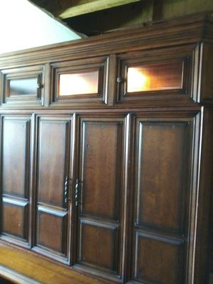 FRee. Yes free...$5K Gorgeous Wooden TV cabinet from Aspen Home Furniture Company for Sale in Littleton, CO