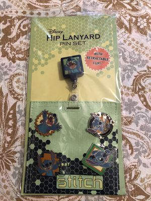 New Disney Stitch Hip Lanyard Pin Set for Sale in Spring Hill, FL