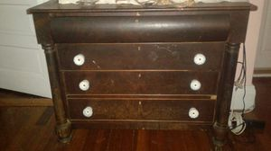 Antique dresser 1800's 1900's it great condition for year I think original period glass knobs beautiful when light hit them for Sale in Lowell, MA