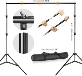 10'x7.3' Photography Backdrop Stand with Clamps, Sand Bag, and Carry Bag for Sale in Chino,  CA