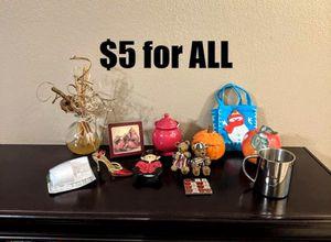 Stainless steel mug, card holder, metal sudoku, bears, new air wick warmer, pumpkin, knickknacks for Sale in Coppell, TX