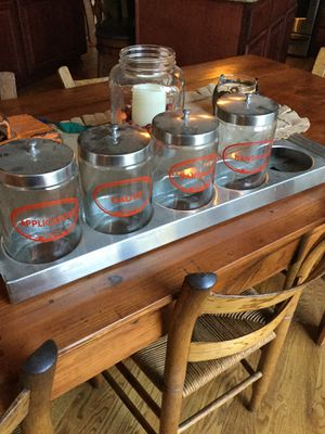 Vintage Medical Jars and Stainless Steel Holder for Sale in Maple Valley, WA
