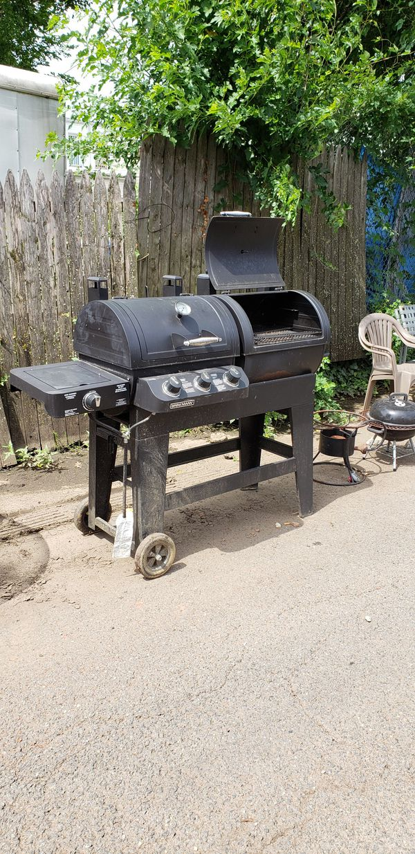 Dual Gas and Charcoal Smoker Grill
