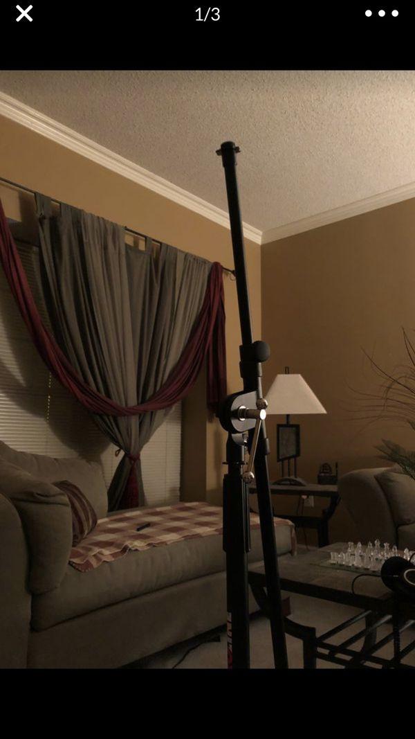 Proline Telescoping Boom Microphone Stand Black