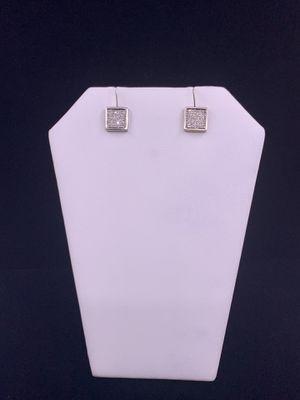 White Gold Diamond Earrings .64ctw 3.5g 14kt for Sale in Phoenix, AZ