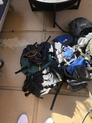 3 camping backpacks for Sale in Los Angeles, CA