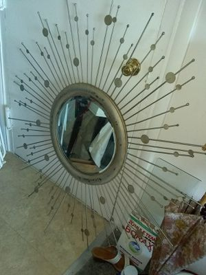 """Large metal wall mirror 48"""" for Sale in Franconia, VA"""