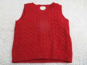 red cable knit baby vest 12mos cat & jack Valentine's Day for Sale in Lake Forest, CA