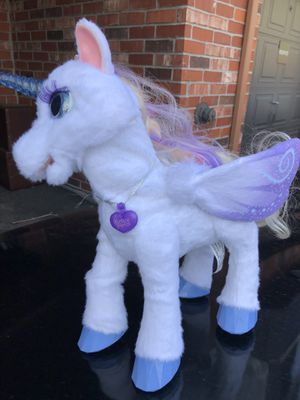 furReal StarLily, My Magical Unicorn Interactive Plush Pet Toy, Light-up Horn for Sale in Denver, CO