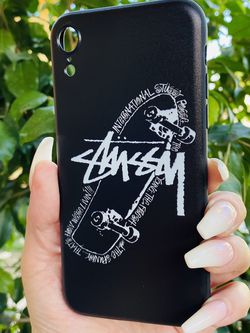 Brand new cool iphone XR case cover silicone rubber STUSSY SKATE GIrls guys womens mens hypebeast hype fundas for Sale in San Bernardino,  CA