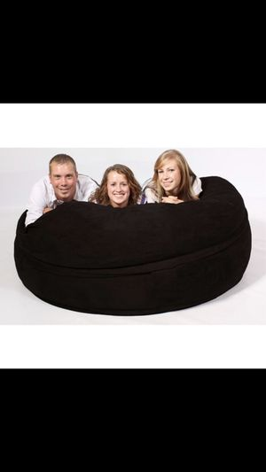 Overstock FufSack black sofa sleeper lounge chair (original price $109) for Sale in Silver Spring, MD