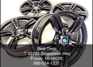 """18"""" staggered bmw wheels brand new set only 699.00 Best Tires 📍33733 Groesbeck Hwy Fraser, MI 48026 julian📱 Financing no credit n for Sale in Sterling Heights, MI"""