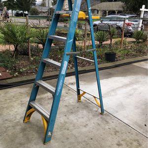 6' Fiberglass & steel step ladder for Sale in Aloha, OR