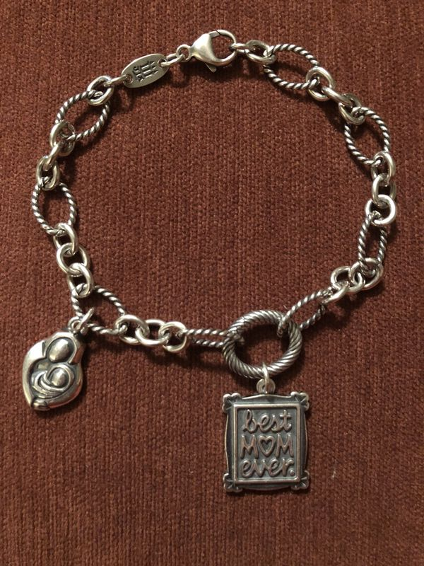 254295cf0 James Avery Oval Twist Changeable Charm Bracelet with 2 charms ...