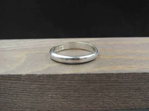 Size 8.5 Sterling Silver Plain Cool Band Ring Vintage Statement Engagement Wedding Promise Anniversary Bridal Cocktail for Sale in Lynnwood, WA