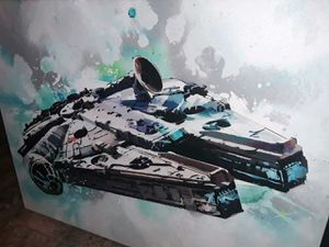 Holiday special large Custom Canvas oil painting of the Millennium Falcon amazing work asking $700 or best offer for Sale in Houston, TX