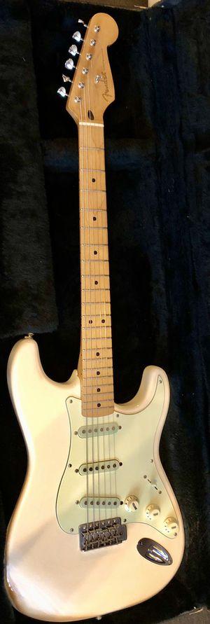Fender guitar Olympic white vintage MIM Strat for Sale in Portland, OR