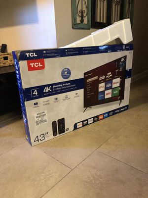 "43"" TCL 4K Roku TV for Sale in Panama City Beach, FL"