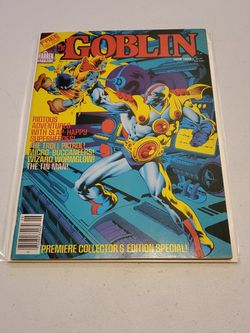 The Goblin #1 Warren Magazine June 1982 Rare News Stand Edition Variant, Raw Unread And Ungraded, High Grade Very Fine+ To Near Mint for Sale in Fresno,  CA