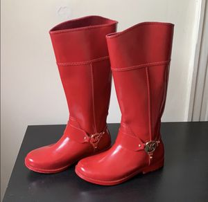 Michael Kors Red Rainboots for Sale in Cambridge, MA