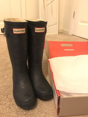 Hunter Navy Blue Insulated Rain Boots in size 2 Kids Brand New for Sale in Palo Alto, CA