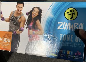 Zumba tone up kit with weights for Sale in Cranston, RI
