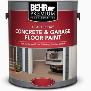 BEHR Premium 1 gal. Grey Self-Priming 1-Part Epoxy Satin Interior/Exterior Concrete and Garage Floor Paint for Sale in Arcadia, CA