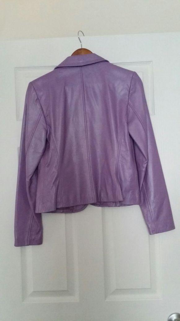 Purple leather jacket