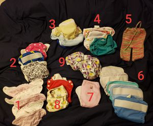 Assorted newborn cloth diapers and covers for Sale in Salem, OR