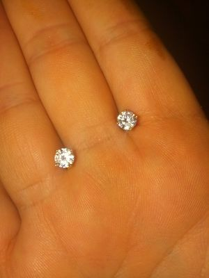 1ctw simulated diamond earrings for Sale in El Paso, TX