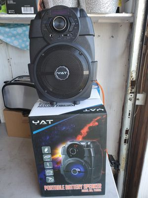 New portable battery speaker size 6.5 bluetooth rechargeable,usb,mp3,fm radio aux for Sale in Riverside, CA