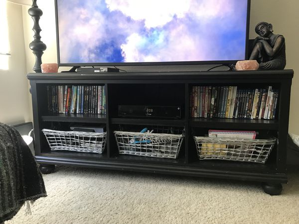 TV stand and 2 bookshelves