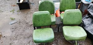 4 boat seats w /aluminum boxes for Sale in Portland, OR