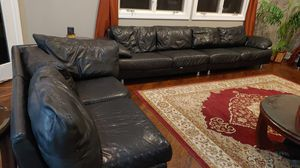 Leather sectional sofa for Sale in Wayne, IL