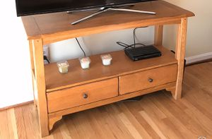 Amish wood table. TV stand for Sale in Baltimore, MD