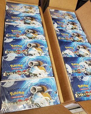 POKEMON SEALED EVOLUTIONS BOOSTER BOXES FOR TRADE!!! for Sale in Riverside, CA