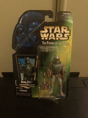 "1997 Star Wars "" The Power of the Force Boba Fett action figure with Sawed-Off Blaster and Jet Pack!!!! for Sale in San Francisco, CA"