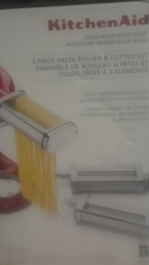 Kitchen Aid 3 piece pasta roller and cutter set for Sale in Salt Lake City, UT
