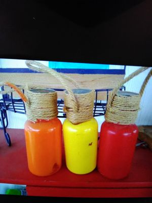 Led jars and a candle holder for Sale in Layton, UT