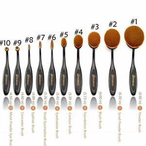 10 pcs oval makeup brush set LA Makeup cosmetics for Sale in Los Angeles, CA