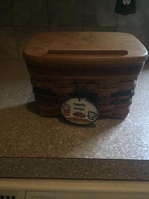 Longaberger Recipe for Sale in Millsboro, DE