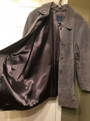 Ladies Size 18-20 Lined Leather Jacket. Excellent Condition, Barely Worn. No Stains or Rips. Grey Suede is Color. Pick up in Clayton today for Sale in Clayton, NC