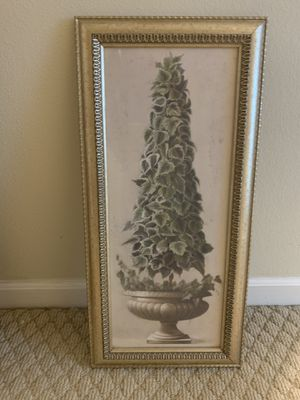 Gorgeous Topiary wall art in ornate frame for Sale in Winter Springs, FL