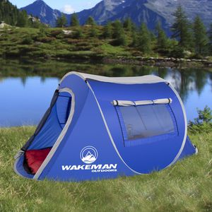 Pop-up Tent 2 Person Water Resistant Tent Shelter Canopy Shade Rainfly Hiking Camping Camper Outdoor for Sale in Toledo, OH